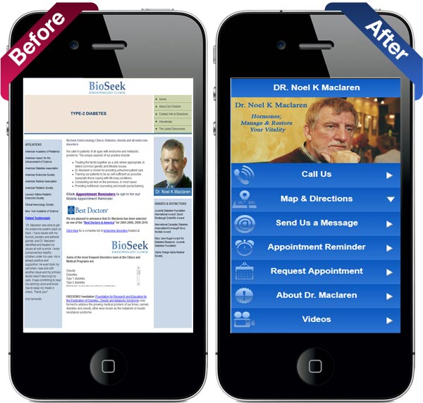 mobile doctors site before and after
