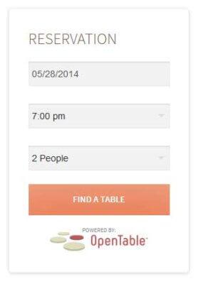 open table widget